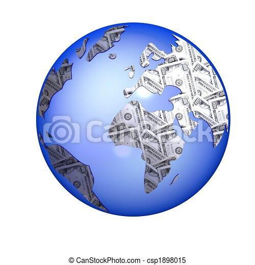 isolated globe - csp1898015
