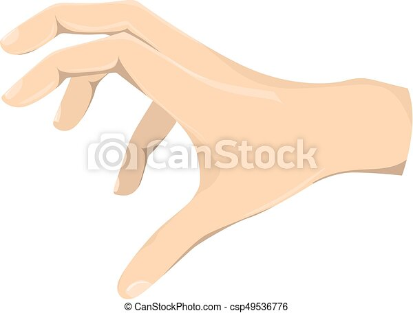 isolated grabbing hand isolated grabbing hand on white background rh canstockphoto com Holding Hands Hand Pulling