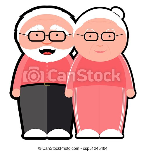 isolated grandparents icon on a white background vector vector rh canstockphoto co uk grandparent clipart images grandparent clipart