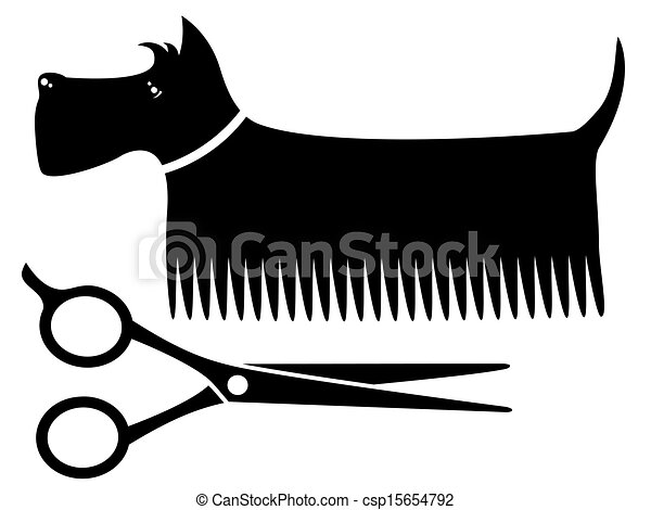 isolated grooming dog isolated black grooming dog silhouette with rh canstockphoto com clipart dog grooming salon free dog grooming clipart images