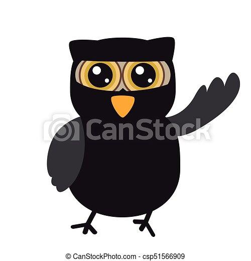 Isolated halloween owl - csp51566909