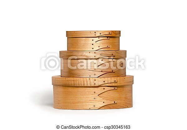Isolated Hand Made Shaker Boxes - csp30345163
