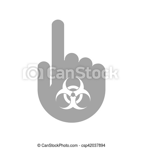 Isolated Hand With A Biohazard Sign Illustration Of An Isolated