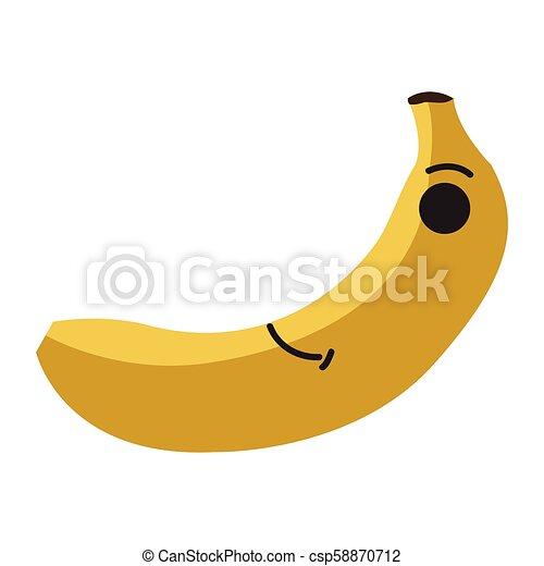 Isolated happy banana emote - csp58870712