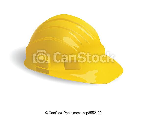 isolated hard hat - csp8552129