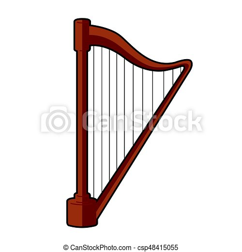 isolated harp icon isolated icon of a harp vector illustration rh canstockphoto com golden harp clipart harp instrument clipart