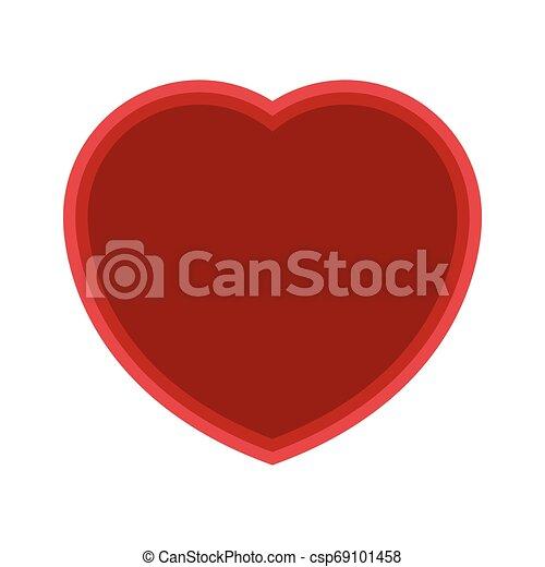 Isolated heart shape symbol on white background - csp69101458