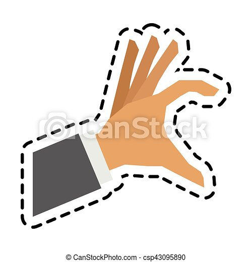 Isolated human hand design - csp43095890