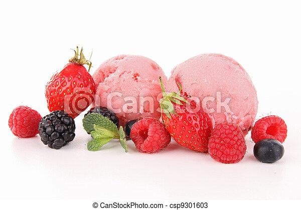 isolated ice cream - csp9301603