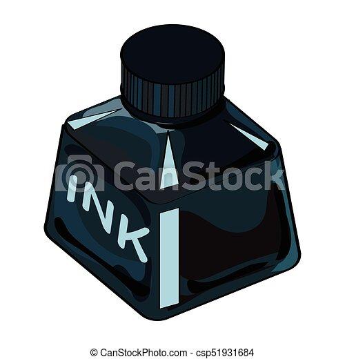 Isolated Ink Bottle Cartoon - Vector Illustration - csp51931684