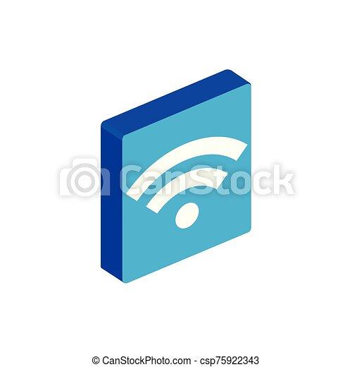 Isolated isometric wifi icon vector design - csp75922343