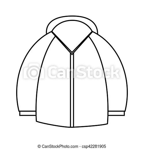 Isolated Jacket Of Winter Design Jacket Icon Winter Cloth Fashion