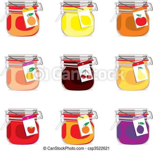 isolated jam jars set - csp3522621