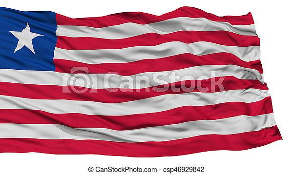 Isolated Liberia Flag