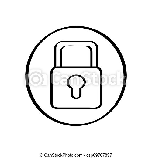 Isolated lockpad icon on a white background - csp69707837