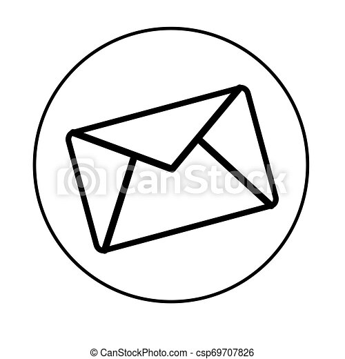 Isolated mail icon on a white background - csp69707826