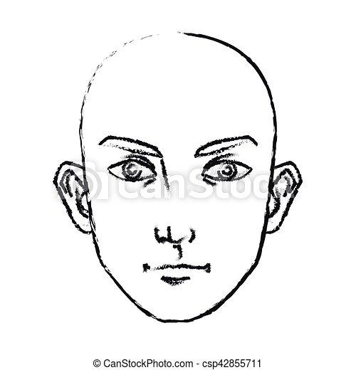 Isolated Man Face Cartoon Design Man Face Cartoon Icon Male