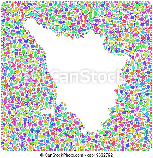 Map Of Tuscany In Italy.Isolated Map Of Tuscany