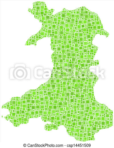 Map Of Wales Uk.Isolated Map Of Wales Uk Decorative Map Of Wales Uk In A