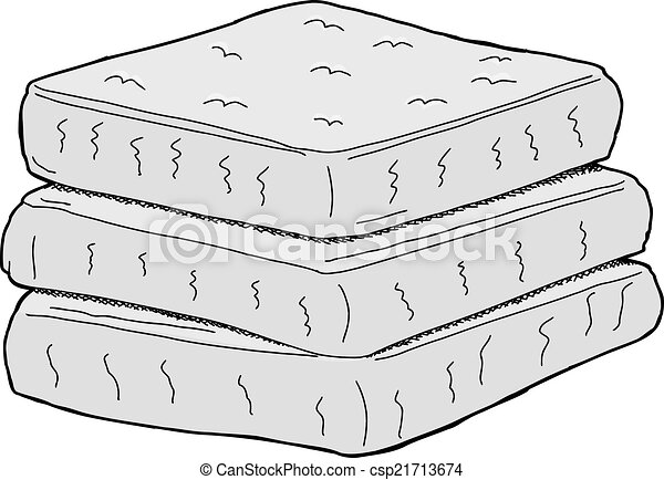 stack of mattresses. Isolated Mattresses - Csp21713674 Stack Of Mattresses