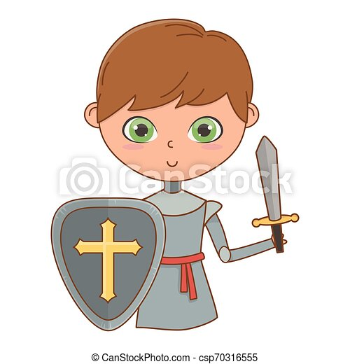 Isolated medieval knight design vector illustration - csp70316555