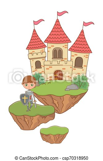 Isolated medieval knight design vector illustration - csp70318950