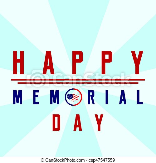 Isolated memorial day background - csp47547559