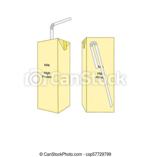 Isolated milk box icon - csp57729799