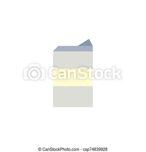 Isolated milk box icon vector design - csp74839928