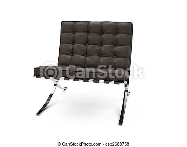 isolated modern furniture view - csp2688758