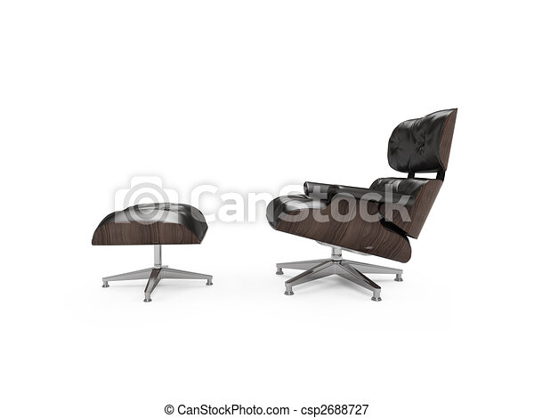 isolated modern furniture view - csp2688727