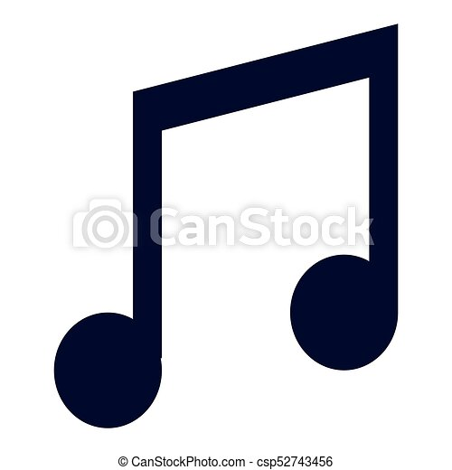 isolated musical note icon on a white background vector clipart rh canstockphoto com music note vector file music note vector free