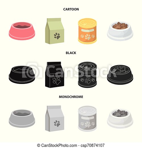 Isolated object of food and tin icon. Collection of food and bottle vector icon for stock. - csp70874107