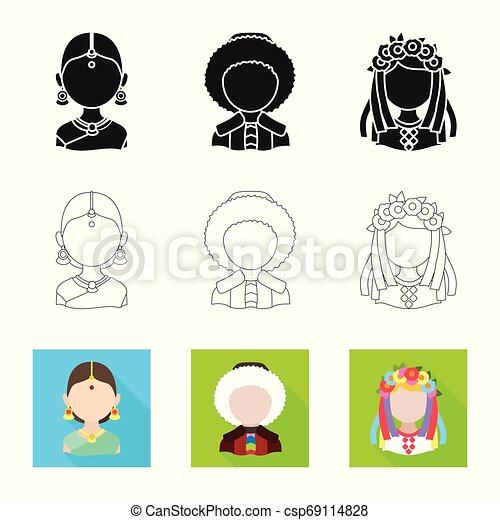 Isolated object of imitator and resident icon. Set of imitator and culture vector icon for stock. - csp69114828
