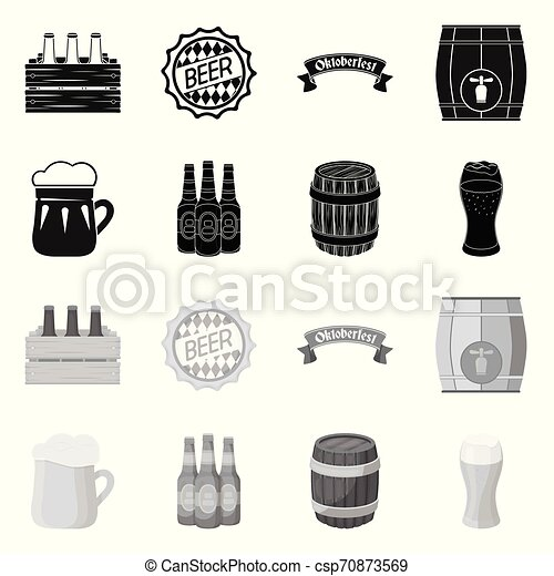 Isolated object of minimal and pint sign. Collection of minimal and craft stock vector illustration. - csp70873569
