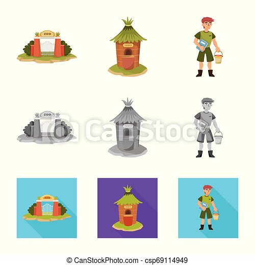 Isolated object of nature and fun icon. Set of nature and entertainment stock vector illustration. - csp69114949