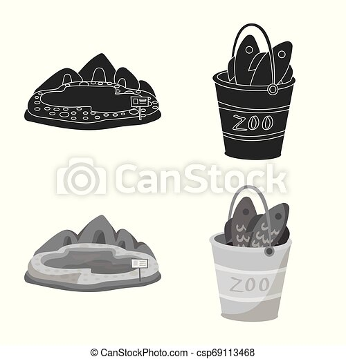 Isolated object of nature and fun sign. Set of nature and entertainment vector icon for stock. - csp69113468