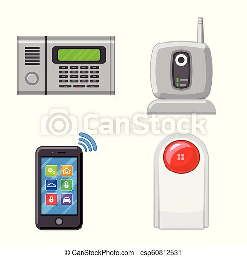 Isolated Object Of Office And House Icon Collection Of Office And