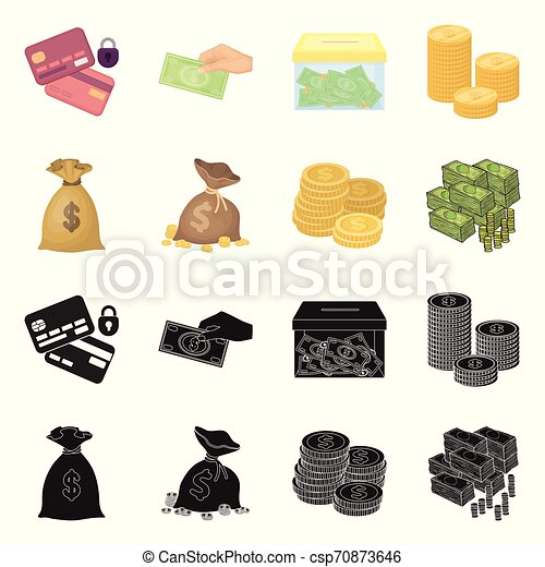 Isolated object of payment and loan sign. Collection of payment and financial stock vector illustration. - csp70873646
