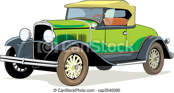 Fully Editable Vector Isolated Old Car With Details