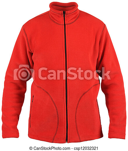 isolated on white male red sport jacket - csp12032321