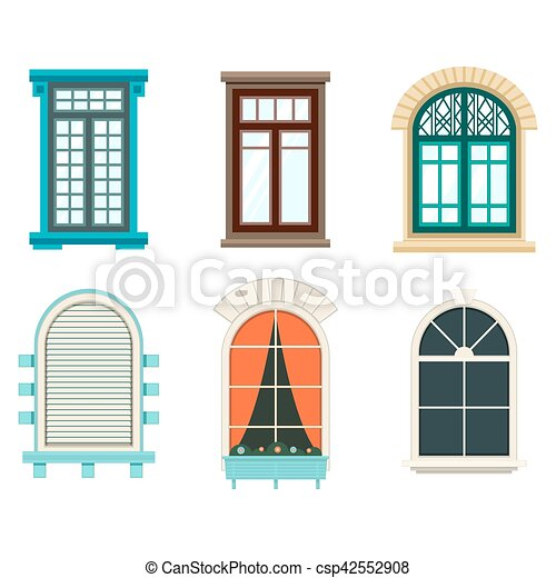 Isolated Open Window With Sash And Frame Curtains And