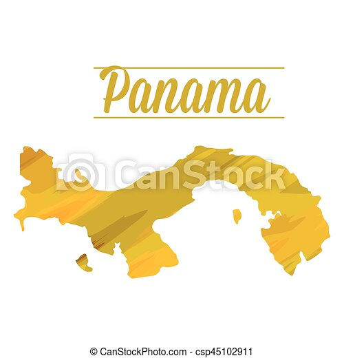 Isolated Panama Map Isolated Map Of Panama On A White Vector - Panama map vector