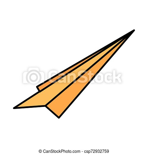 Isolated Paperplane Vector Design