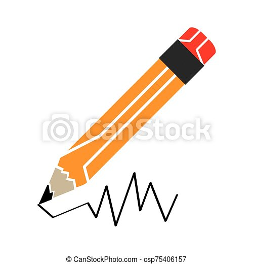 Isolated pencil icon - csp75406157