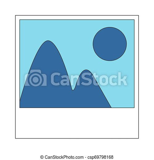 Isolated photo icon on a white background - csp69798168