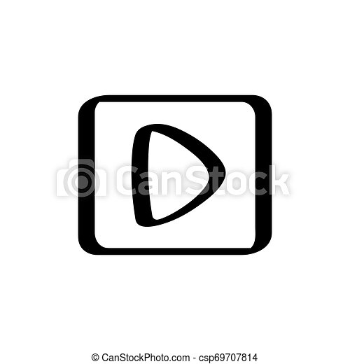 Isolated play button icon on a white background - csp69707814