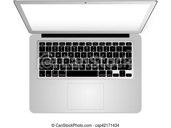 Line Art Laptop : Mobile phone tablet laptop blank white stock vector
