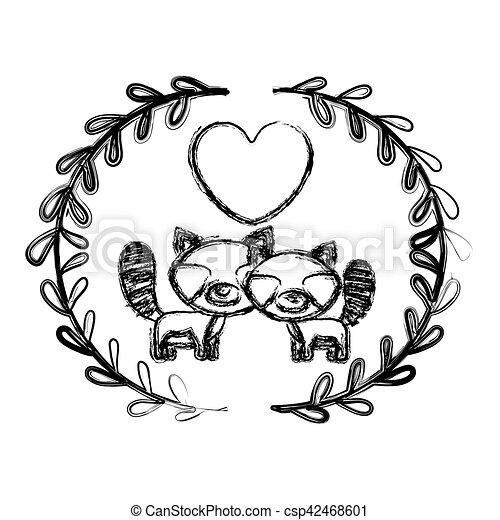 isolated raccoon cartoon design raccoon cartoon icon vector