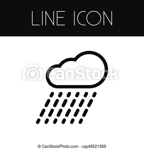 Isolated Rain Outline  Cloud Vector Element Can Be Used For Rain, Rainy,  Cloud Design Concept